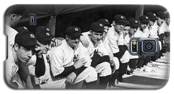 Dimaggio In Yankee Dugout Galaxy S5 Case by Underwood Archives