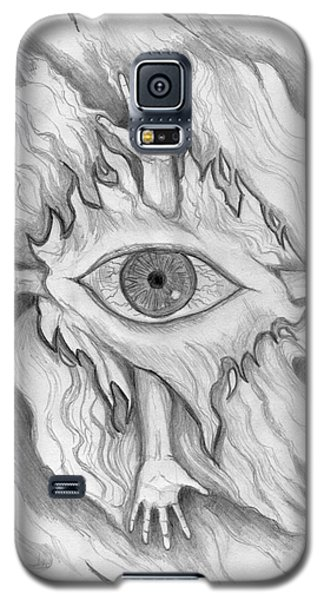 Galaxy S5 Case featuring the drawing Dimension 4 by Roz Abellera Art