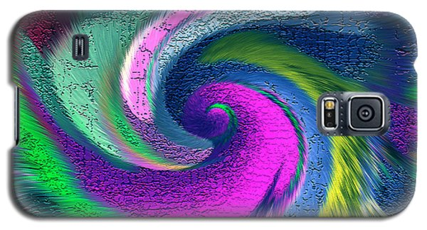 Galaxy S5 Case featuring the mixed media Dimensional Doorway by Carl Hunter