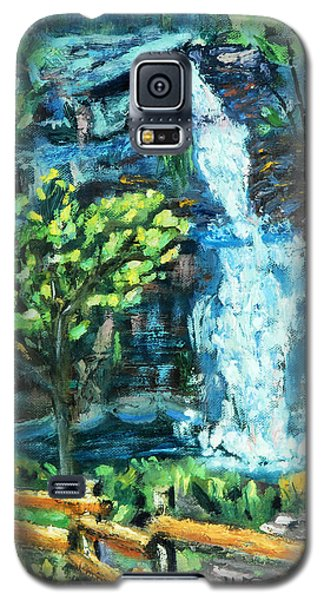 Galaxy S5 Case featuring the painting Dingman Falls Eastern Pennsylvania by Michael Daniels