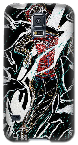 Galaxy S5 Case featuring the painting Dinka Dance by Gloria Ssali