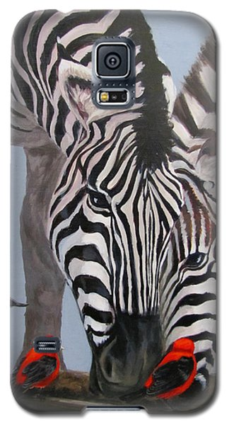 Galaxy S5 Case featuring the painting Dinner Guests by Karen Ilari