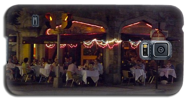Galaxy S5 Case featuring the photograph Dinning In The Dark by Margie Avellino