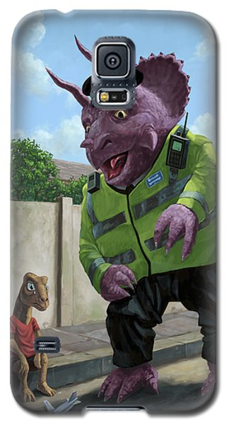 Dinosaur Community Policeman Helping Youngster Galaxy S5 Case