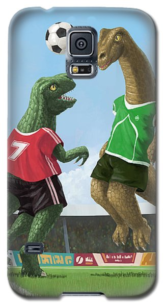 Dinosaur Football Sport Game Galaxy S5 Case by Martin Davey
