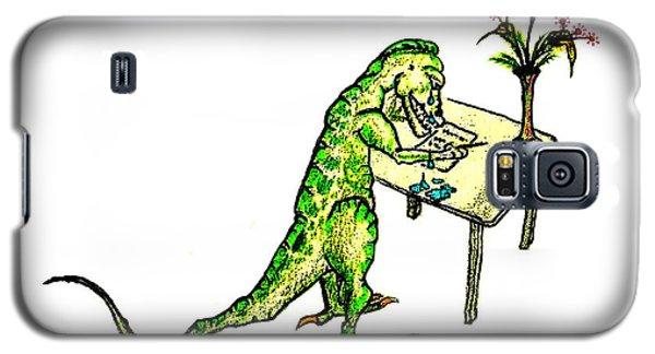 Dinosaur Get Well Sorry Miss You Condolences Sympathy Blank Galaxy S5 Case