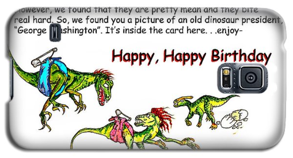 Dinosaur Kids Birthday Galaxy S5 Case