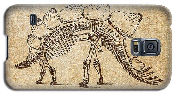 Dinosaur Stegosaurus Ungulatus Galaxy S5 Case by Aged Pixel
