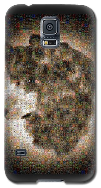 Galaxy S5 Case featuring the painting Dire Wolf Mosaic by Paula Ayers