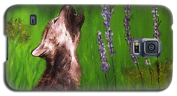 Galaxy S5 Case featuring the painting Discovering His Voice by Bev Conover