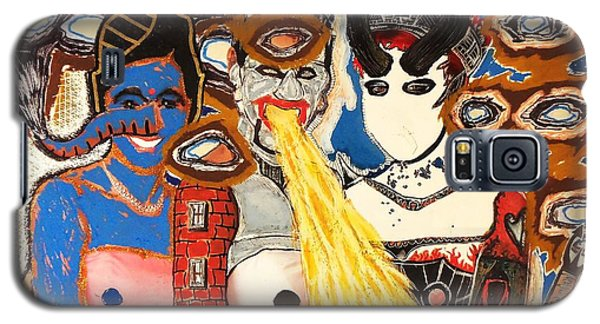 Discovery Of The Great Intergalactic Siamese Triplets Three Years Too Late Galaxy S5 Case by Mack Galixtar