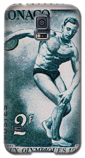 Discus Vintage Postage Stamp Print Galaxy S5 Case by Andy Prendy