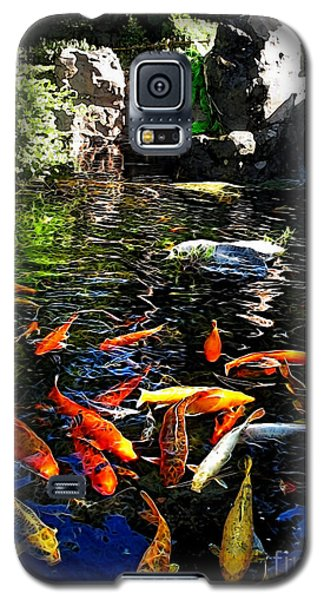 Disney Epcot Japanese Koi Pond Galaxy S5 Case