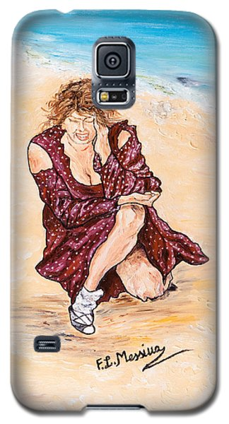 Galaxy S5 Case featuring the painting Disperazione by Loredana Messina