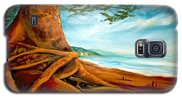 Galaxy S5 Case featuring the painting Distant Shores Rejoice by Meaghan Troup