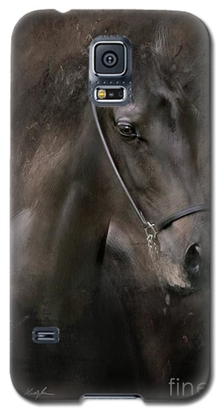 Galaxy S5 Case featuring the painting Distinguished by Dorota Kudyba