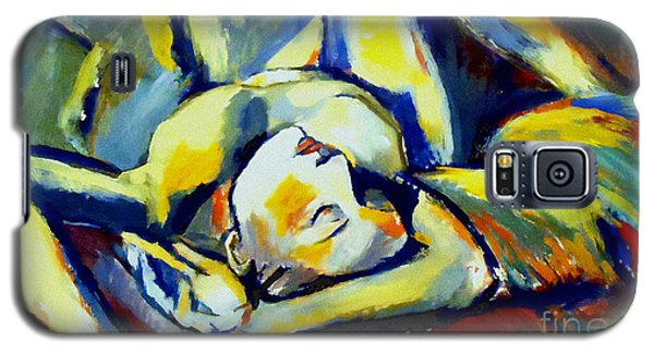 Galaxy S5 Case featuring the painting Distressful by Helena Wierzbicki