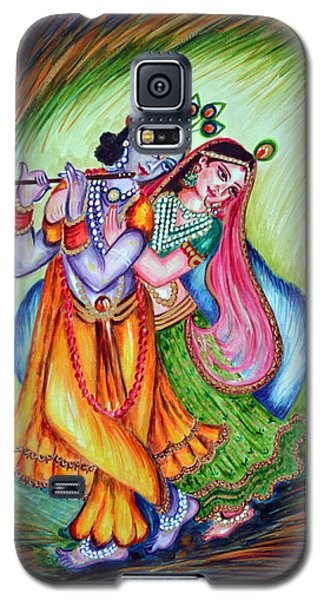 Galaxy S5 Case featuring the painting Divine Lovers by Harsh Malik