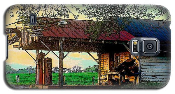 Galaxy S5 Case featuring the photograph Dixie Oil And Gasoline by Rodney Lee Williams