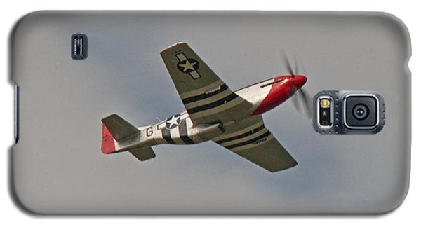 Galaxy S5 Case featuring the photograph Dixie Wing P-51 Red Nose by John Black