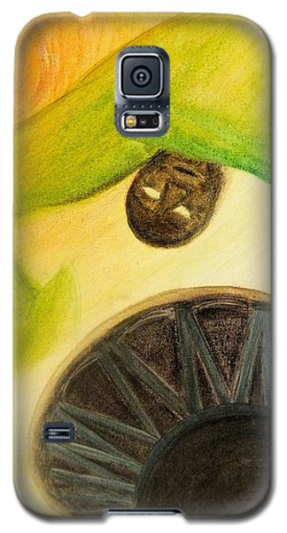 Galaxy S5 Case featuring the painting Djembe by Marc Philippe Joly