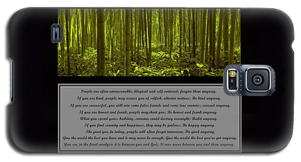 Do It Anyway Bamboo Forest Galaxy S5 Case