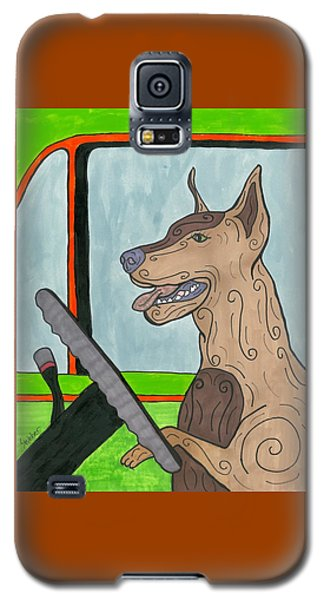 Doberman Driving Galaxy S5 Case