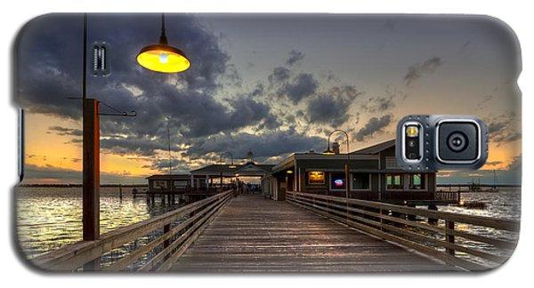 Dock Lights At Jekyll Island Galaxy S5 Case