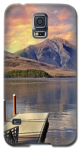Galaxy S5 Case featuring the photograph Dock On Lake Mcdonald by Marty Koch