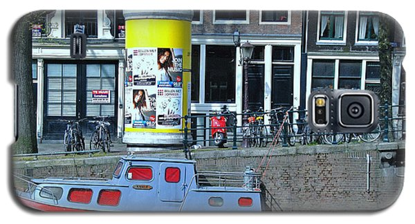 Galaxy S5 Case featuring the photograph Docked In Amsterdam by Allen Beatty