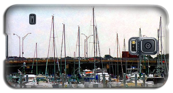 Docked Boats Norfolk Va Galaxy S5 Case