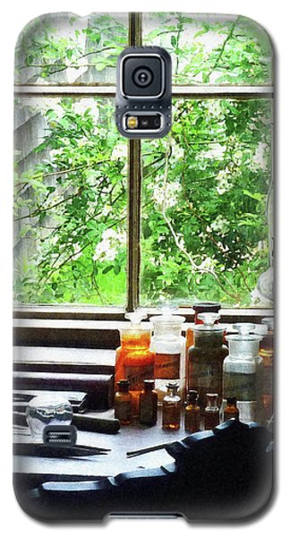 Galaxy S5 Case featuring the photograph Doctor - Medicine And Hurricane Lamp by Susan Savad