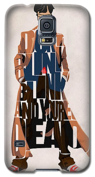 Doctor Who Inspired Tenth Doctor's Typographic Artwork Galaxy S5 Case