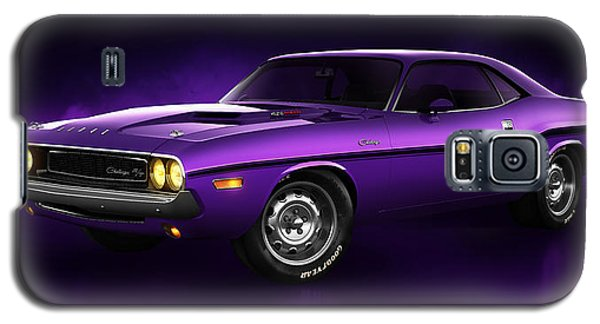 Galaxy S5 Case featuring the digital art Dodge Challenger Hemi - Shadow by Marc Orphanos