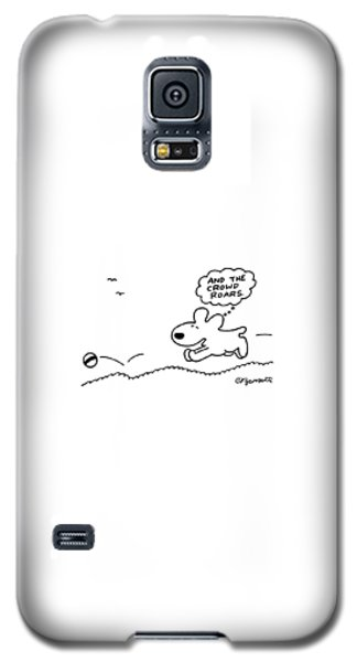 Dog Chases After A Ball Galaxy S5 Case