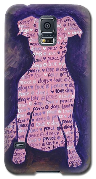 Galaxy S5 Case featuring the painting Dog Day by Leslie Manley