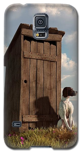 Dog Guarding An Outhouse Galaxy S5 Case