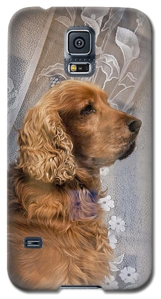 Galaxy S5 Case featuring the photograph Dog In Window by Dennis Cox WorldViews