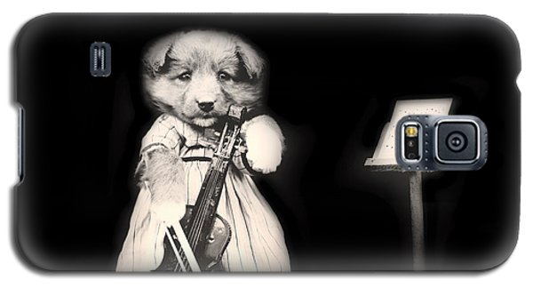 Violin Galaxy S5 Case - Dog Serenade by Mountain Dreams