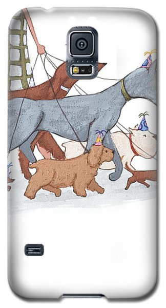 Dog Walker Galaxy S5 Case by Christy Beckwith