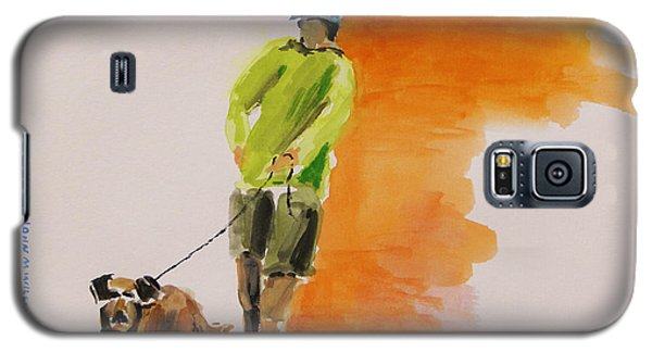 Dog Walker Galaxy S5 Case by John Williams