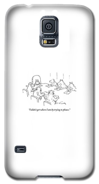 Dogs At A Meeting Galaxy S5 Case