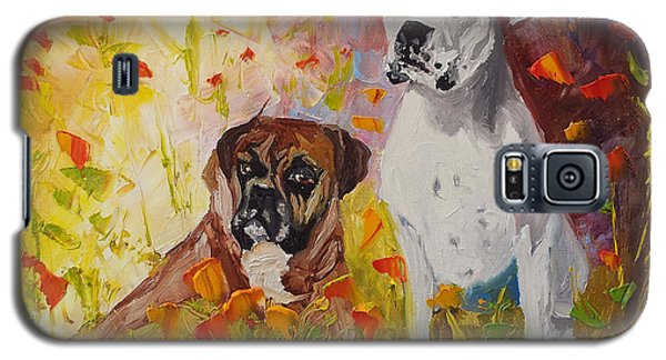 Dogs Painting Fine Art By Ekaterina Chernova Galaxy S5 Case