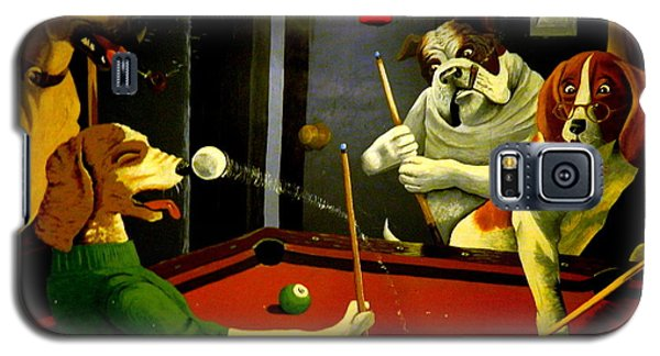 Dogs Playing Pool Wall Art Unknown Painter Galaxy S5 Case
