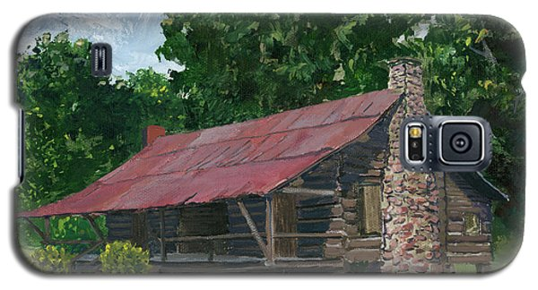 Galaxy S5 Case featuring the painting Dogtrot House In Louisiana by Lenora  De Lude