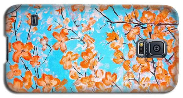 Galaxy S5 Case featuring the painting Dogwoods by Donna Dixon