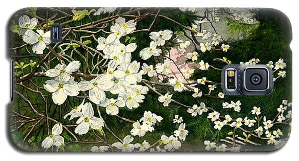 Galaxy S5 Case featuring the painting Dogwoods Virginia by Melly Terpening