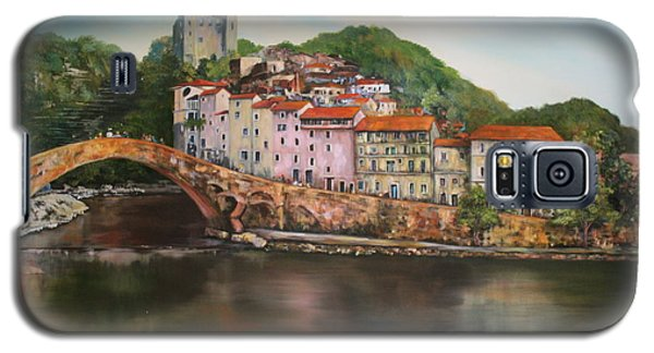 Galaxy S5 Case featuring the painting Dolceacqua Italy by Jean Walker