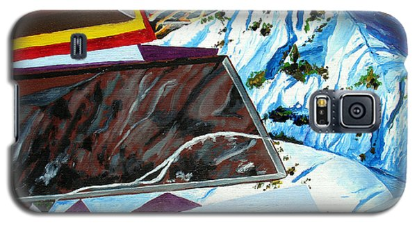 Galaxy S5 Case featuring the painting Dolomite Panorama by Daniel Janda