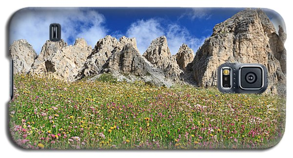 Galaxy S5 Case featuring the photograph Dolomiti - Flowered Meadow  by Antonio Scarpi